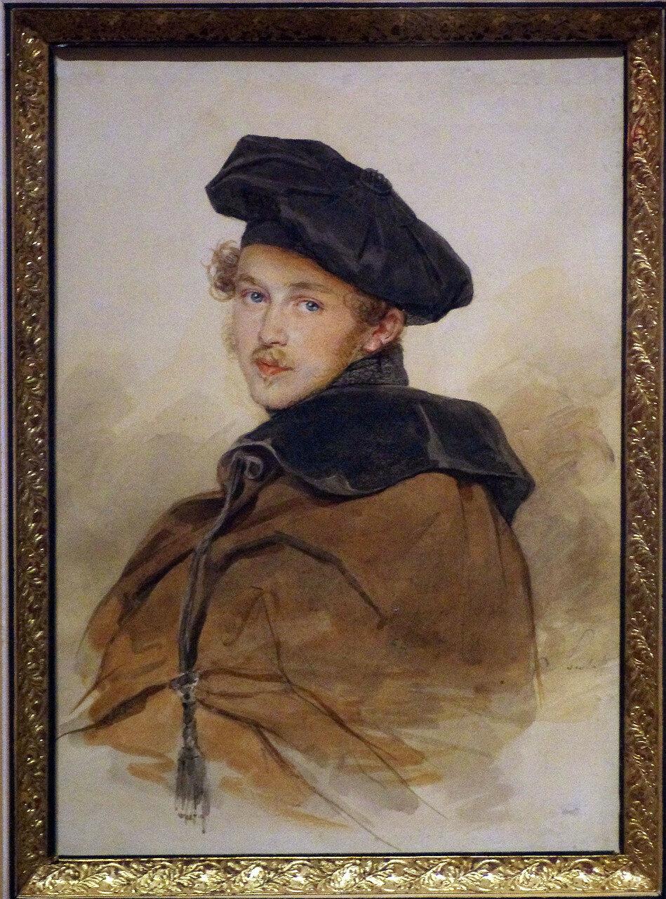 Петр Федорович Соколов. Портрет князя С.В. Трубецкого. 1830-е
