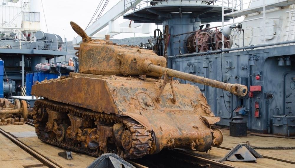 Российские военные к9мая отреставрируют американский танк «Шерман»