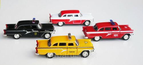Машинка металлическая Чайка ГАЗ-13 масштаб 1/48 Такси