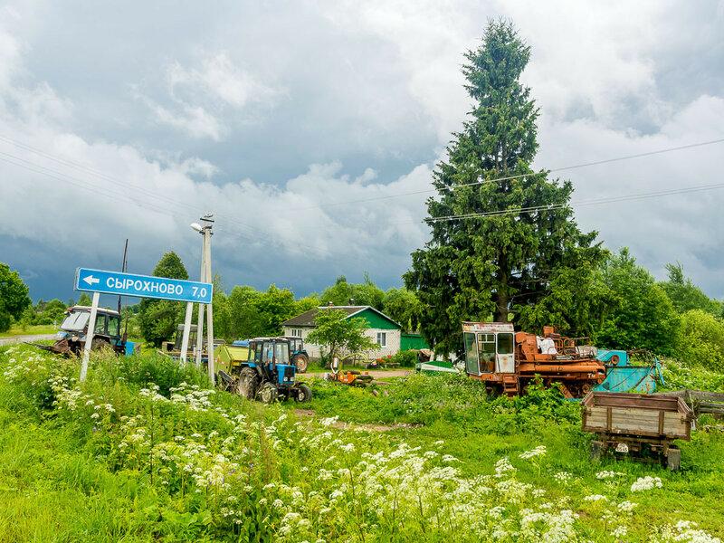 Российская деревня — наглядный пример упорядоченного хаоса.