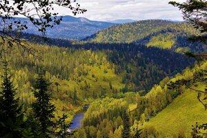 Меж гор петляющая речка