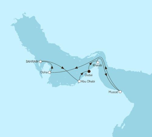 """""""Упийство"""" в Восточном экспрессе, по Персидскому заливу на TUI Mein Schiff 4 в декабре 2018."""