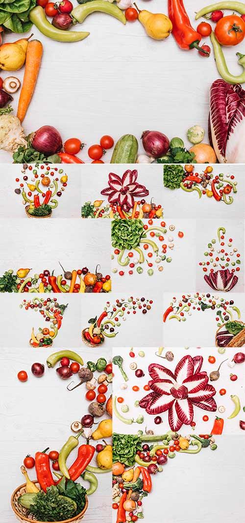 Ассорти из фруктов и овощей / Assorted fruits and vegetables