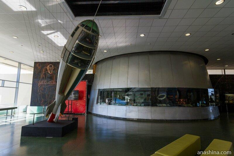 Один из залов музея, Музей космонавтики, Калуга