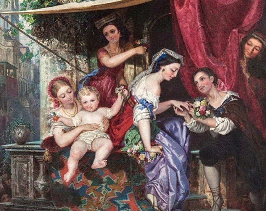 Venetian Engagement, Circa 1850.