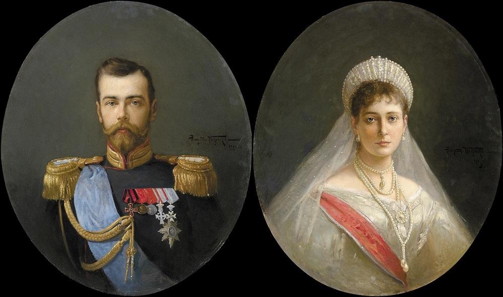 Portraits of Nikolai II and Alexandra Fedorovna, 1903.