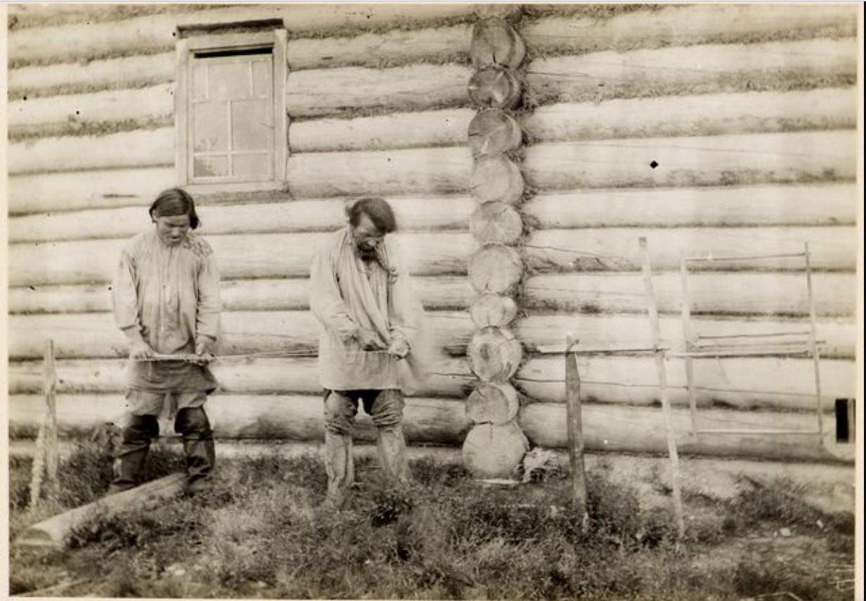 Плетение веревок. Село Калганак, Васюган