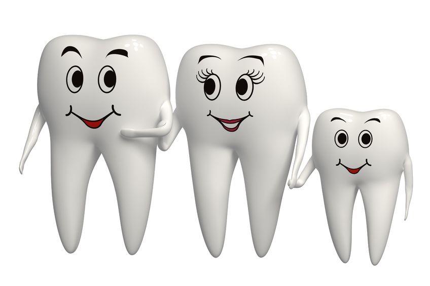 Открытки С Днем стоматолога. Семейство зубиков