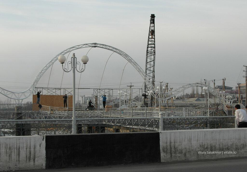 Новый мост в Оше