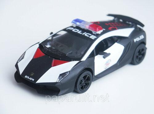 Машинка Kinsmart Lamborghini Sesto Elemento Police