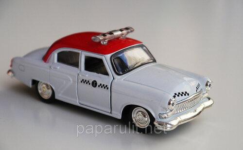 Машинка металлическая Волга ГАЗ-21 масштаб 1:43 Такси