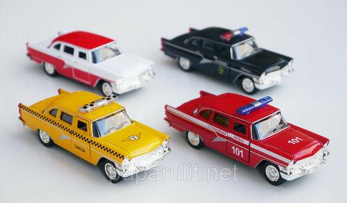Машинка металлическая Чайка ГАЗ-13 Такси