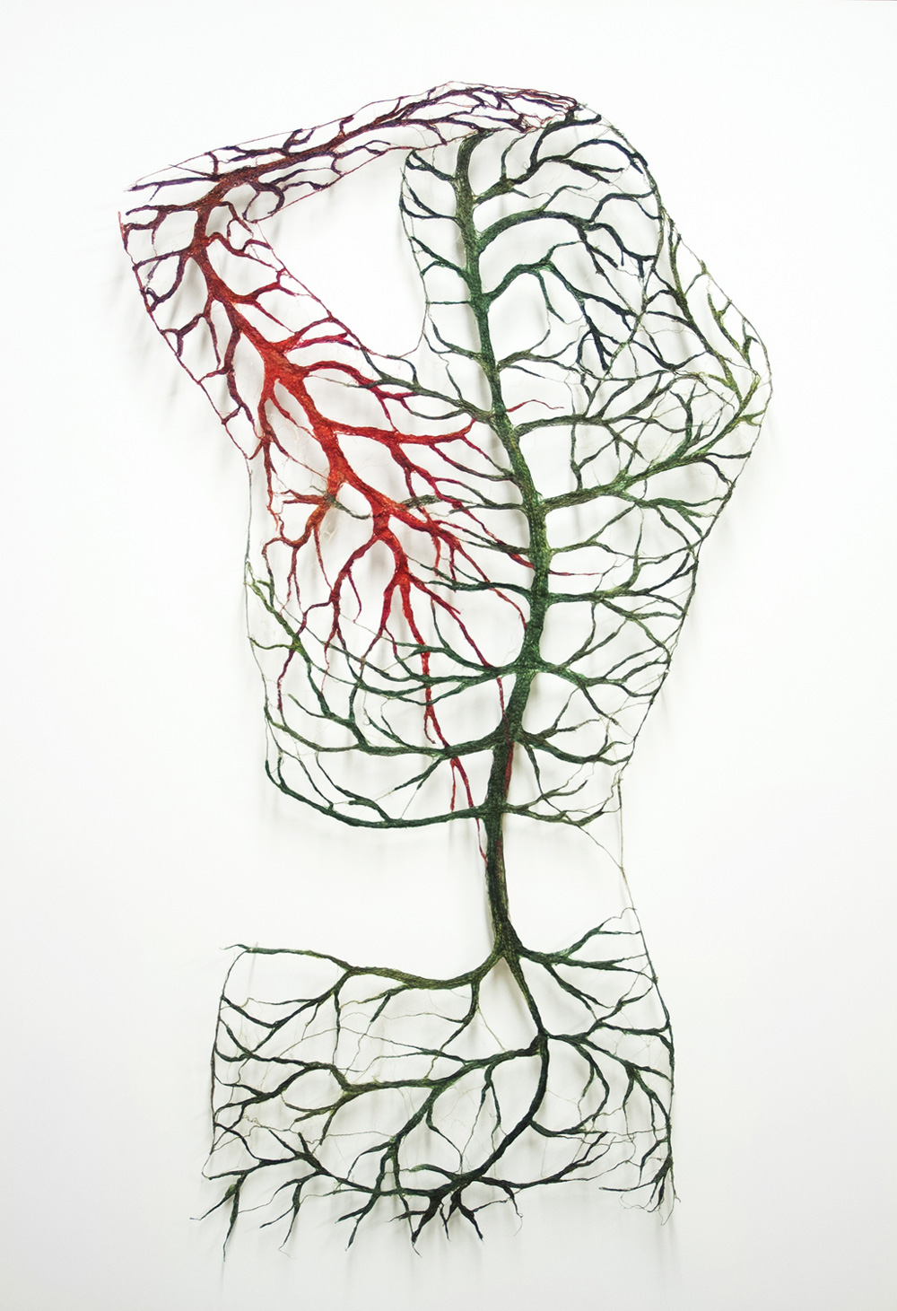 Textile Bodies Reveal Branched Systems of Veins, Flowers and Roots by Raija Jokinen (13 pics)