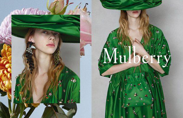 Adele Taska, Freya Lawrence & Lucan Gillespie Model Mulberry SS18 (3 pics)