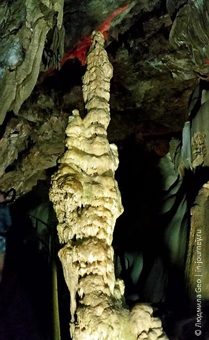 пещера в Новом Афоне сталактиты и сталагмиты