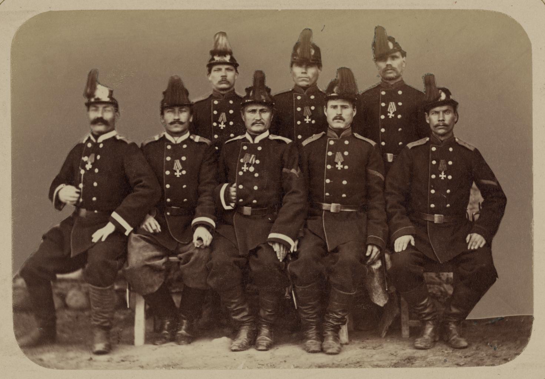 Георгиевские кавалеры, имеющие знаки отличия военного ордена. За взятие укрепления Джизак 18 октября 1866 г. Рядовые Фролов