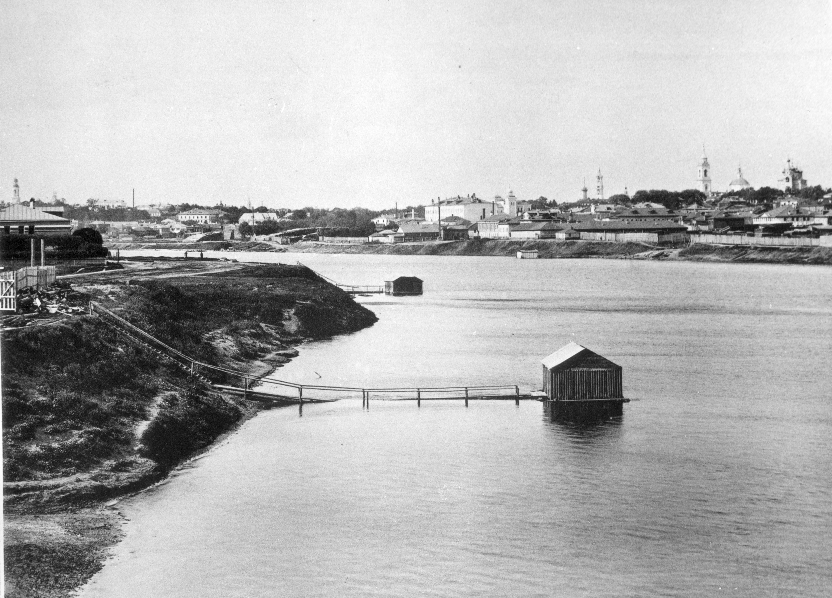 Вид из Дорогомилова выше Бородинского моста. 1887