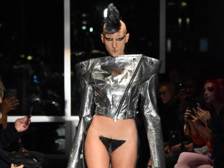 Мохнатые лобки на Неделе моды в Нью-Йорке