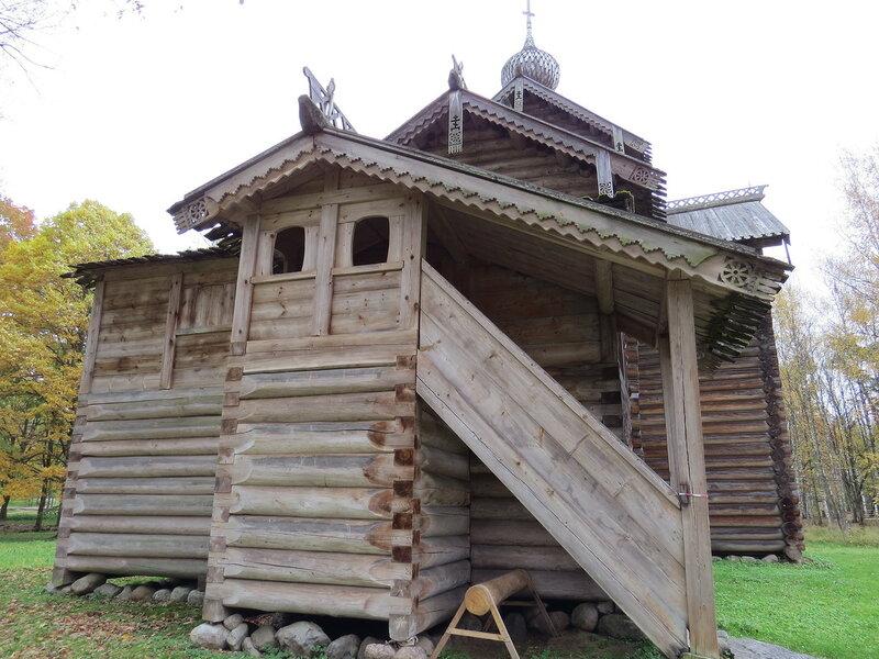Деревянная церковь. Витославлицы в Великом Новгороде