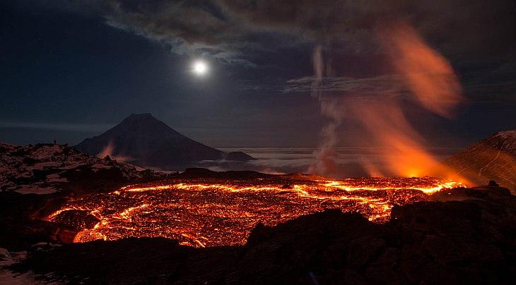 Извержение вулкана Толбачик на Камчатке (36 фото)