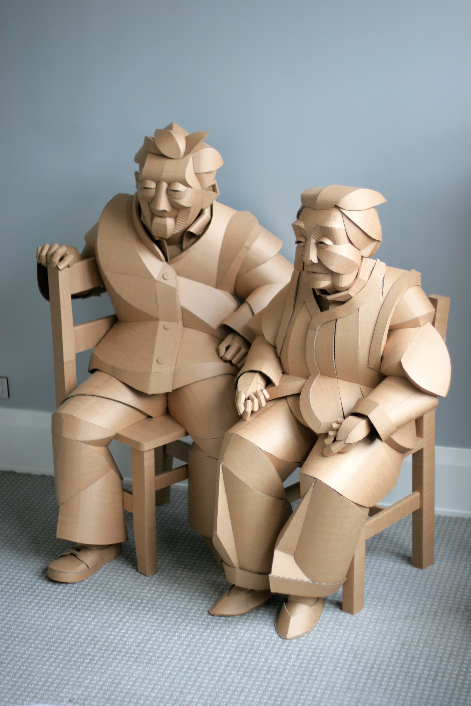 Life-Size Cardboard Sculptures of Chinese Villagers Tap Into Artist Warren King's Ancestral Heritage