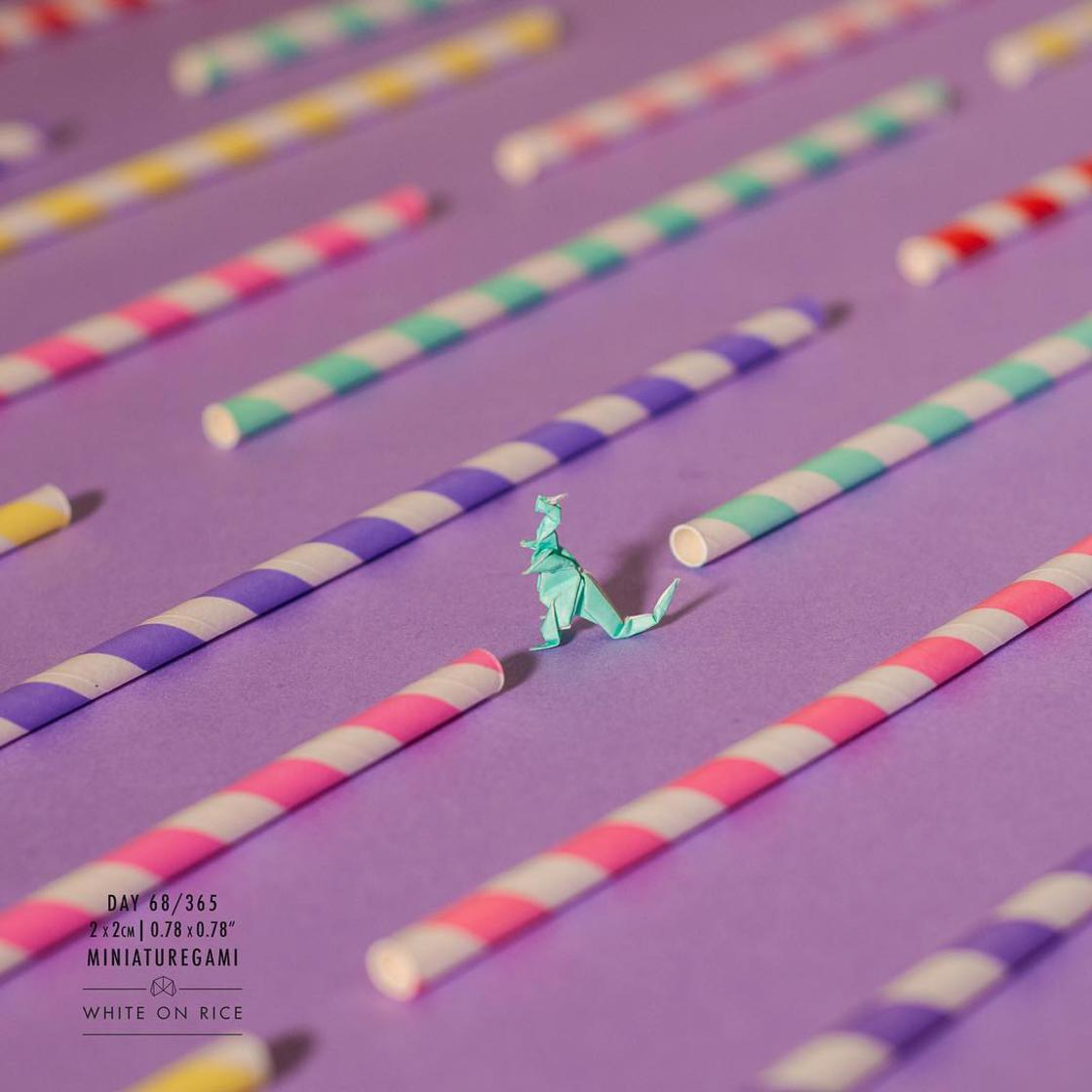 Miniature Origami – This creative is folding a tiny origami every day