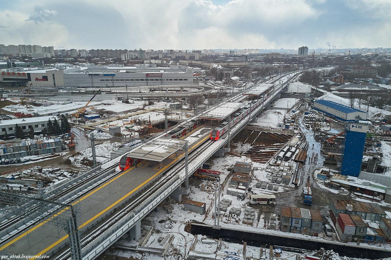 Станция Карачарово, вид сверху