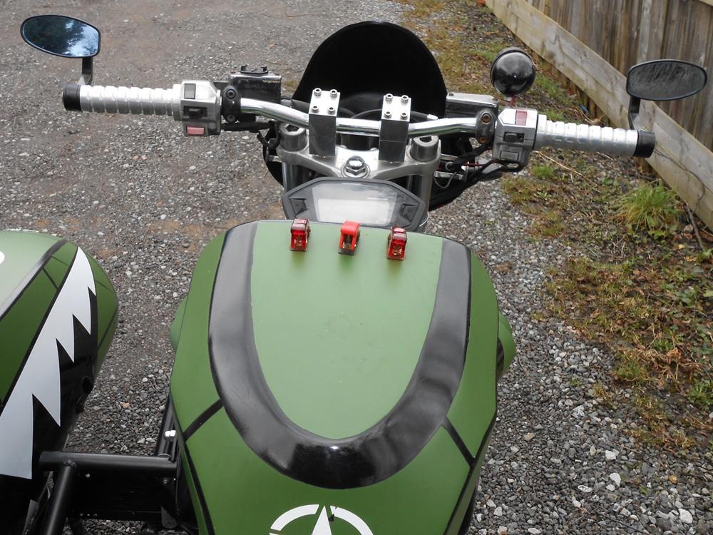 Сайдкар Yamaha V-Max с трейлером