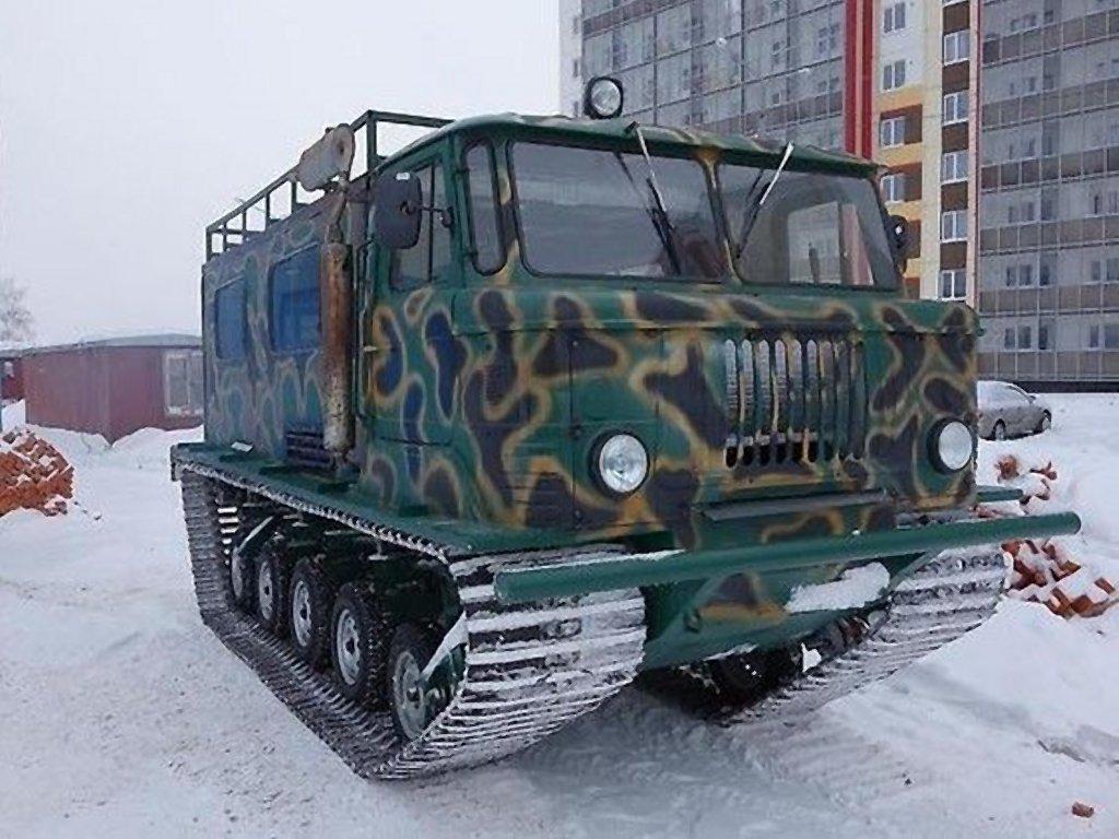 Гусеничный вездеход ГАЗ-66
