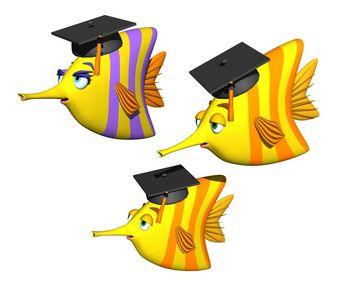 Открытки. Международный день студента. Образованные рыбки