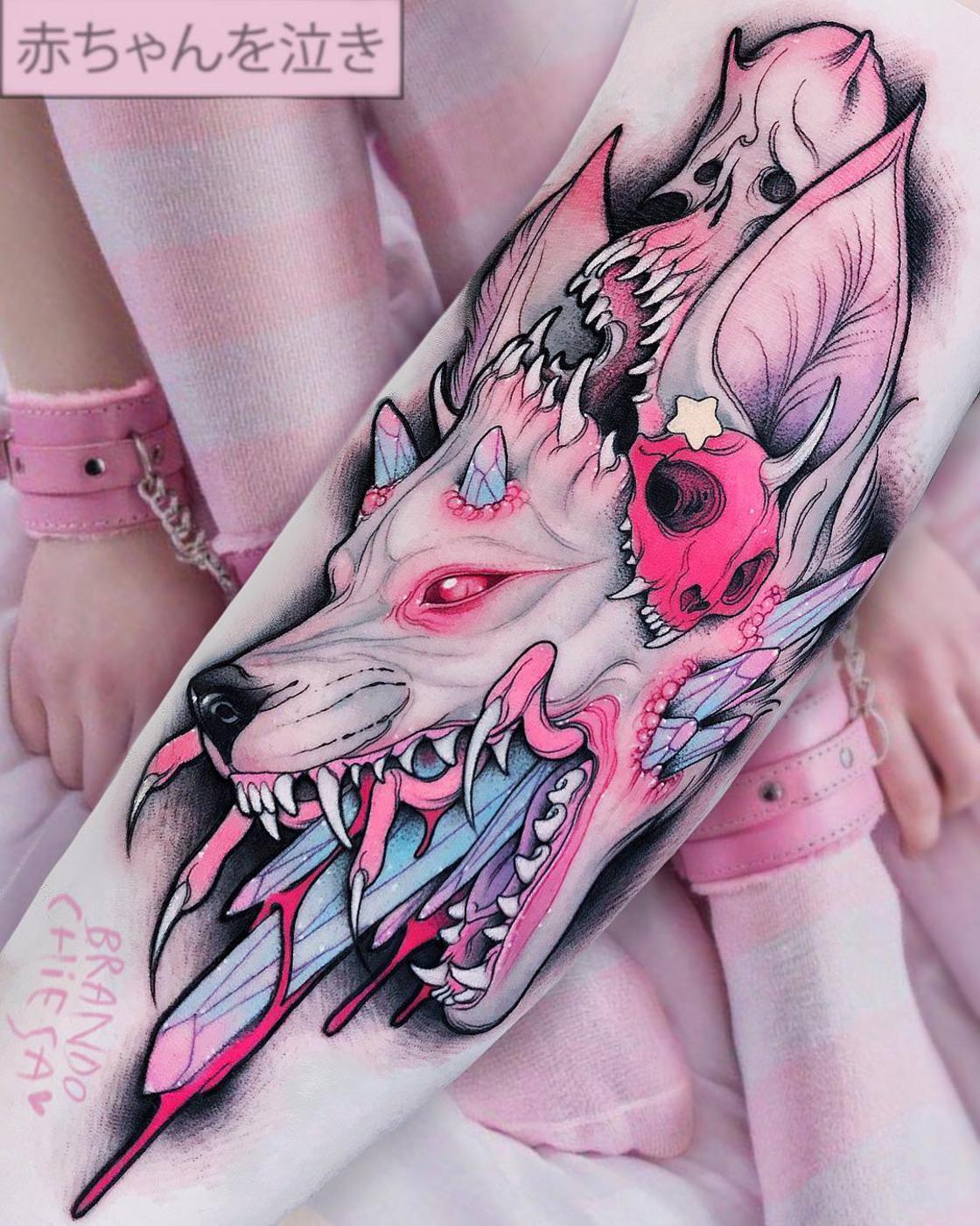 Pink gore and Pop Culture – The latest tattoos by Brando Chiesa