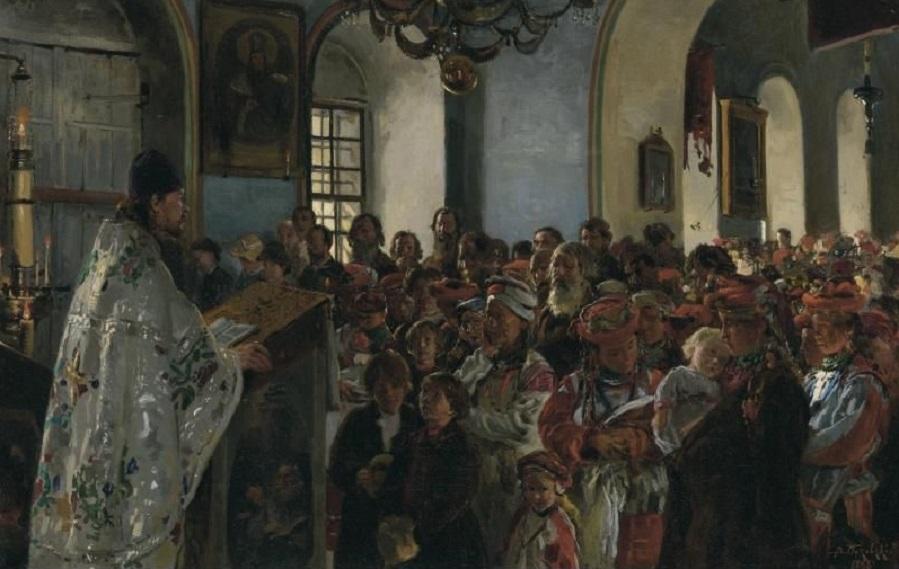 RUSSIAN, 1846-1920 SERMON IN A UKRAINIAN CHURCH.
