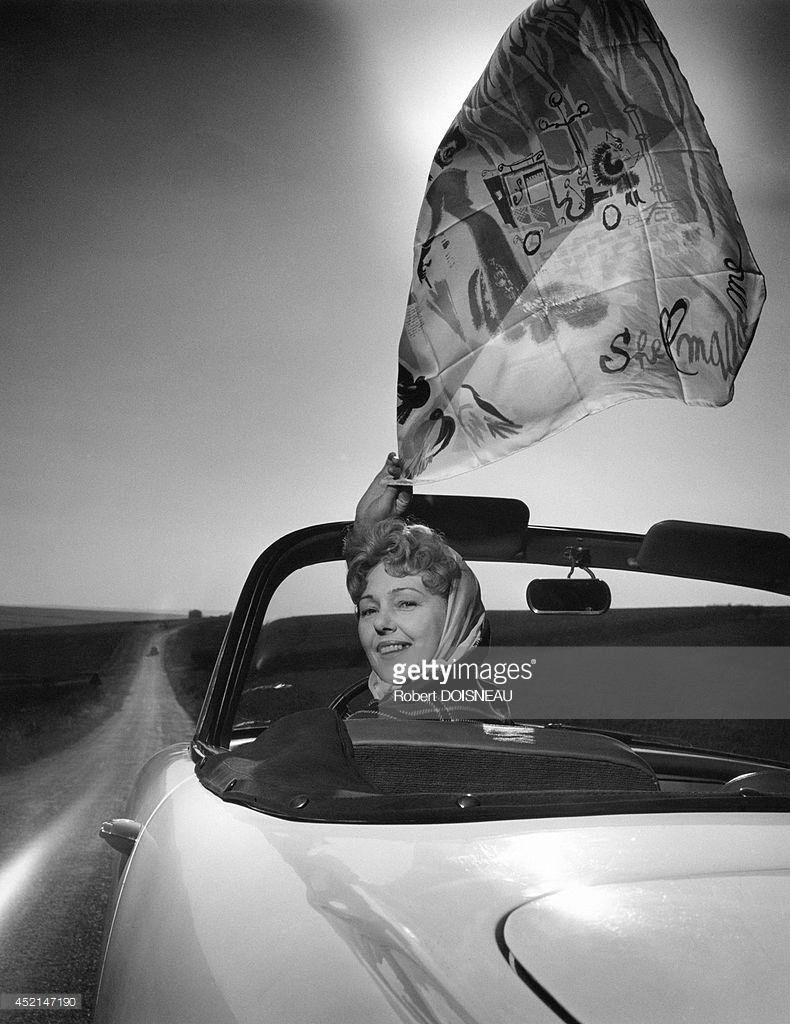 1959. Актриса Полетт Дюбо в рекламе Simca