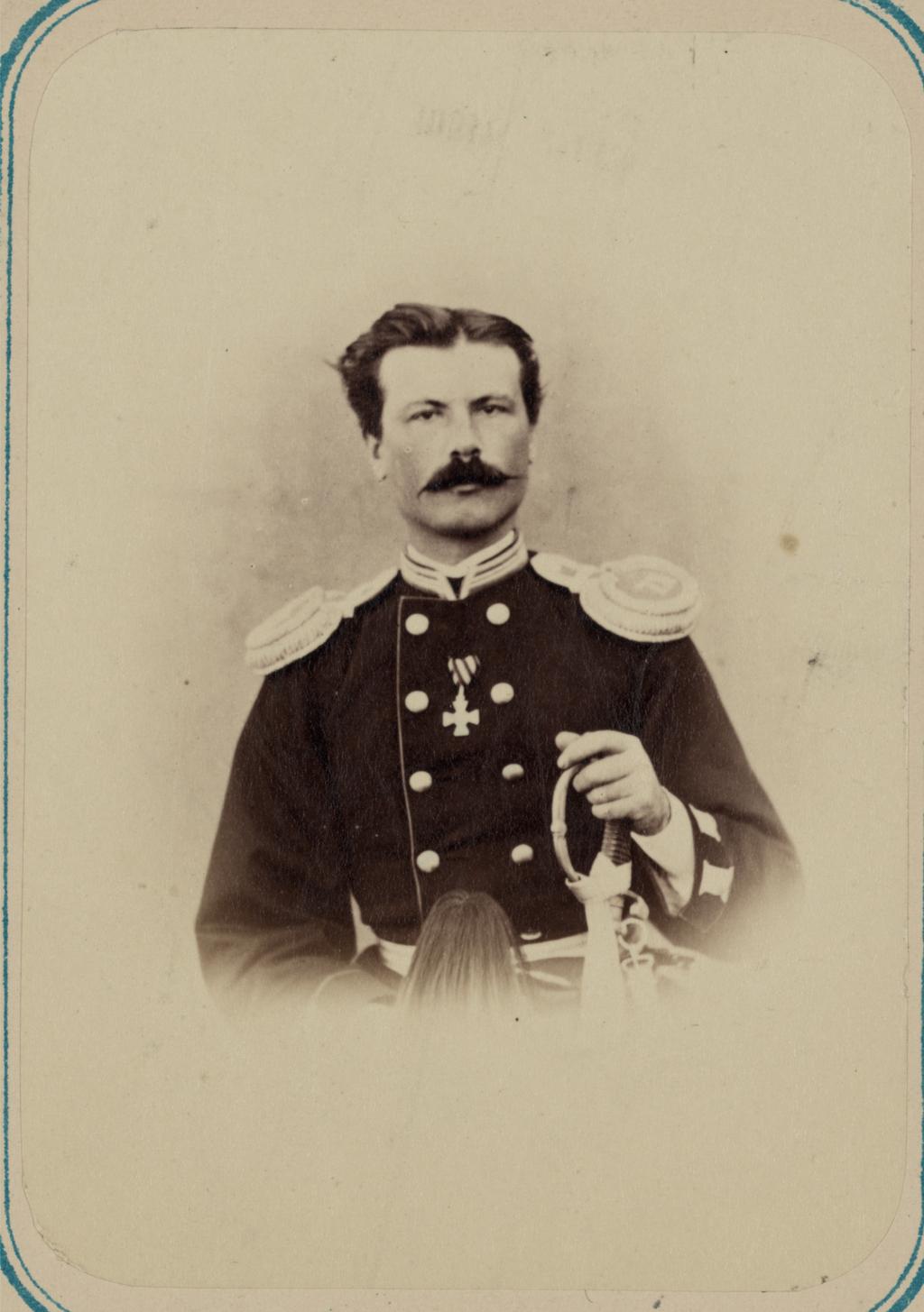 Георгиевские кавалеры.  За взятие укрепления Джизак 18 октября 1866 г. Прапорщик С. Ф. Дурнеев