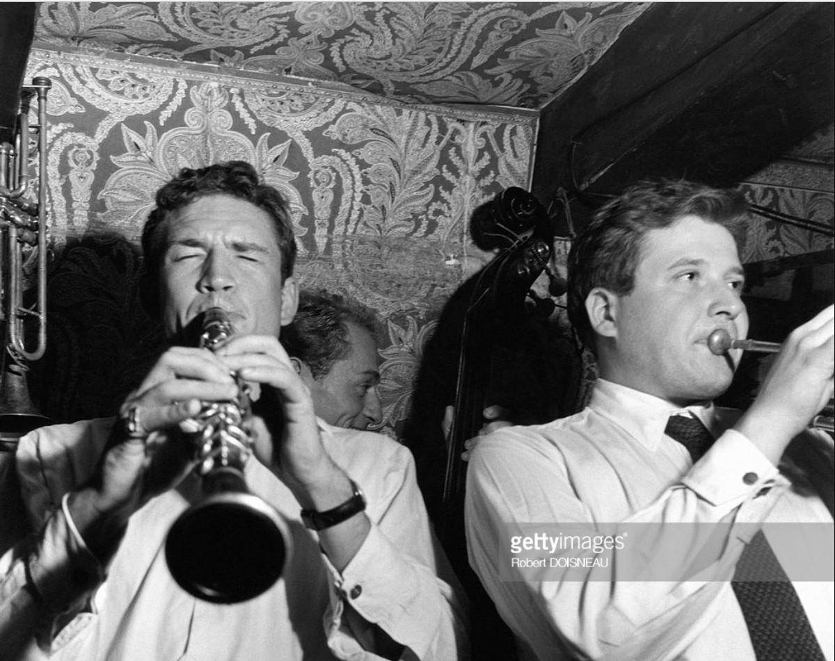 1951. Джазовый кларнетист Клод Лютер и трубач Гай Лонгнон