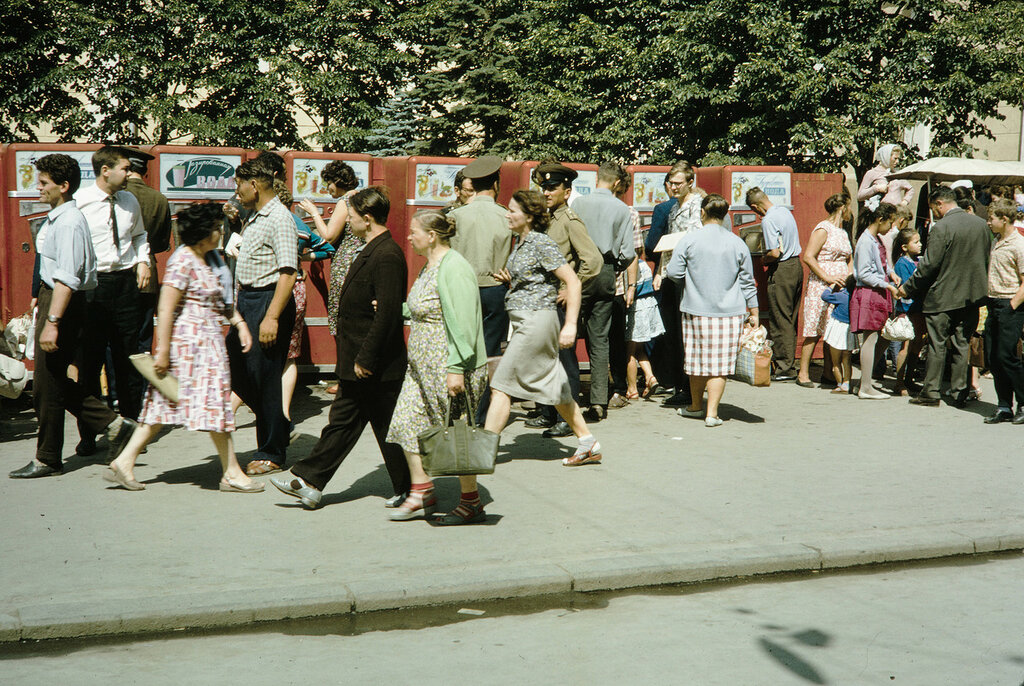 Russia, pedestrians in Moscow
