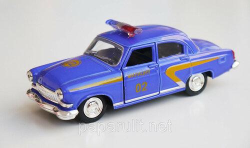 Машинка металлическая ГАЗ-21 милиция
