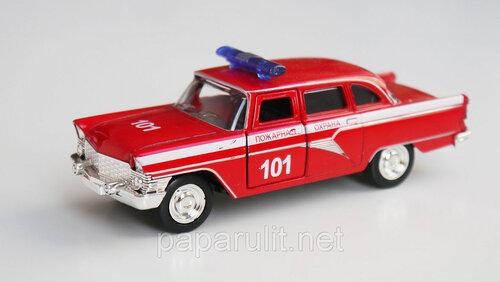 Машинка металлическая Чайка ГАЗ-13 Пожарная