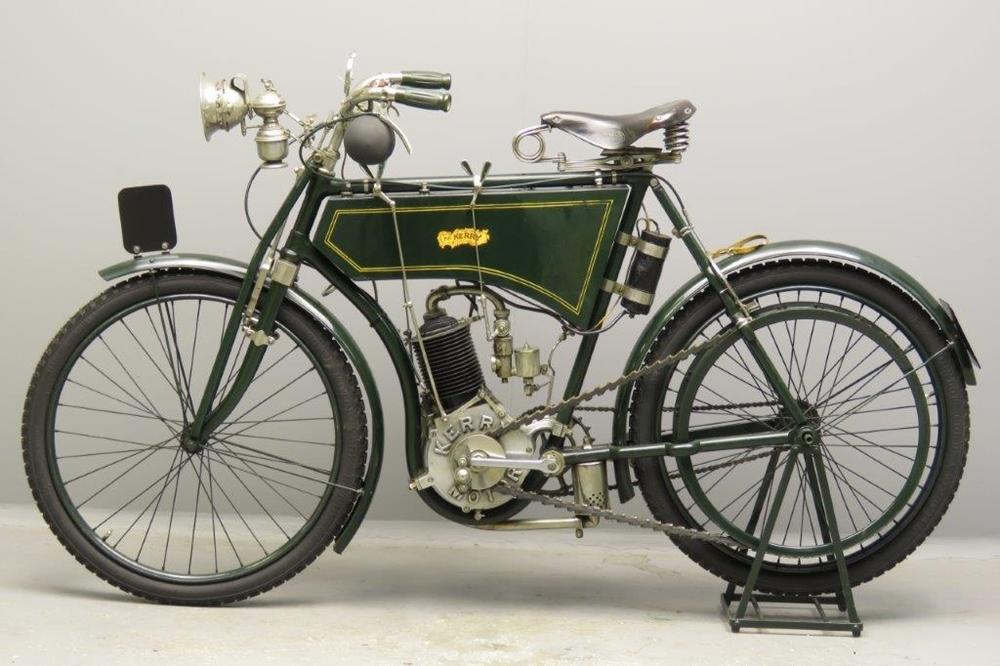 Старинный велоцикл Kerry 1902
