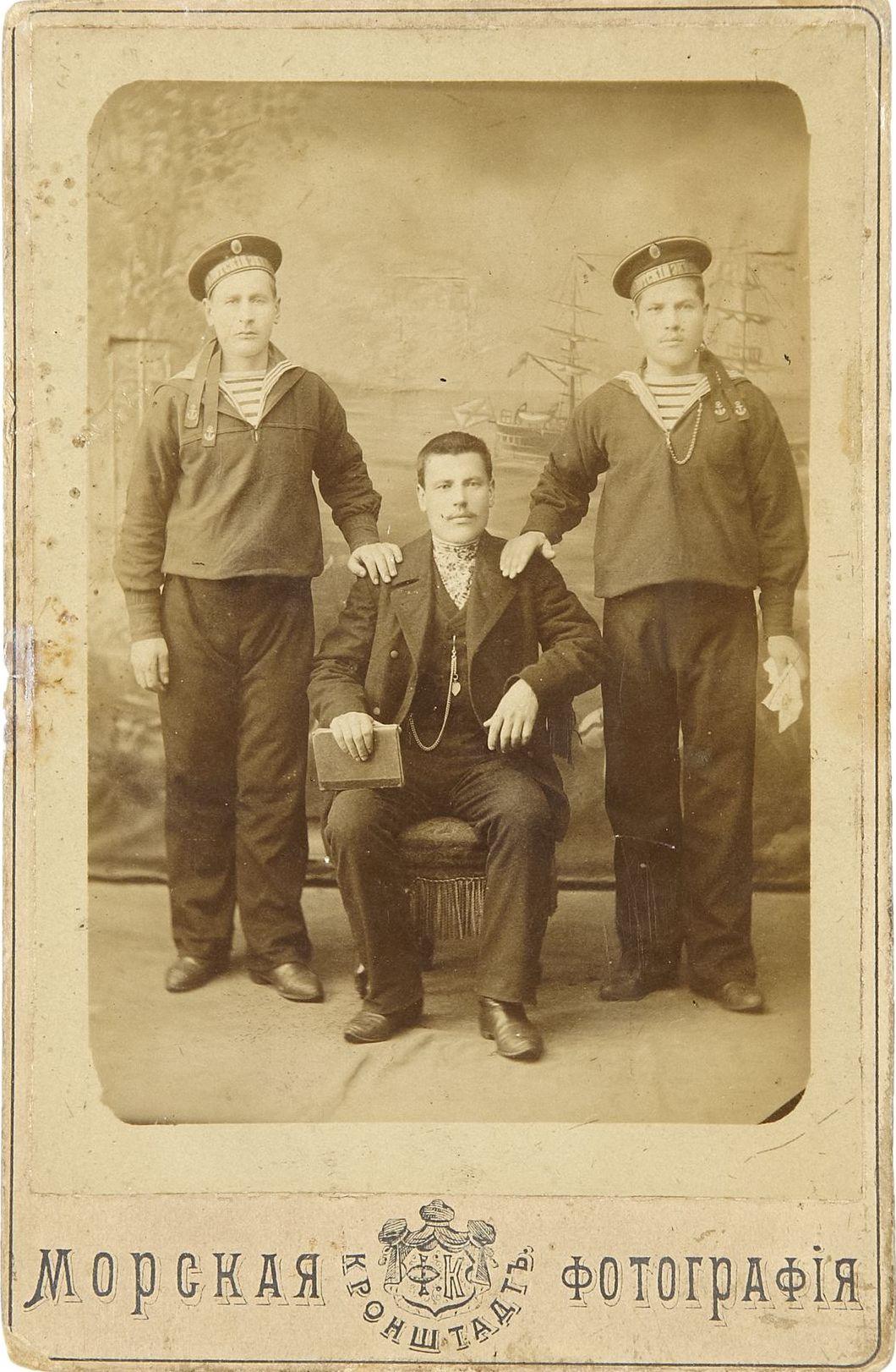 Фото матросов Российского Императорского флота.  Кронштадт, 1880-1890-е