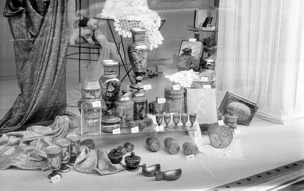 Russia, shop window display in Moscow