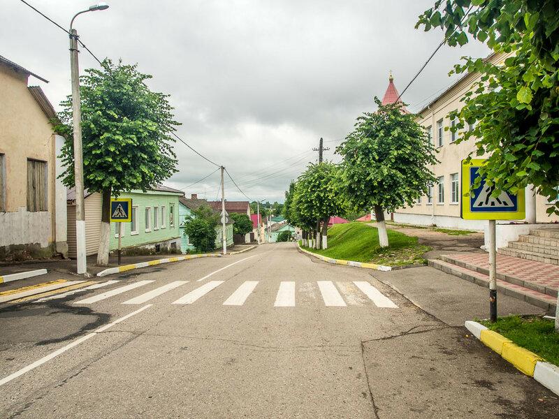 На улицах Себежа.