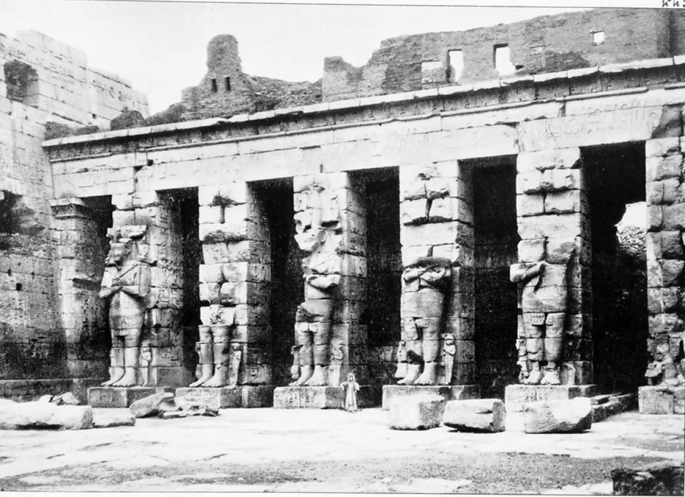 Мединет-Абу. Статуи Осириса
