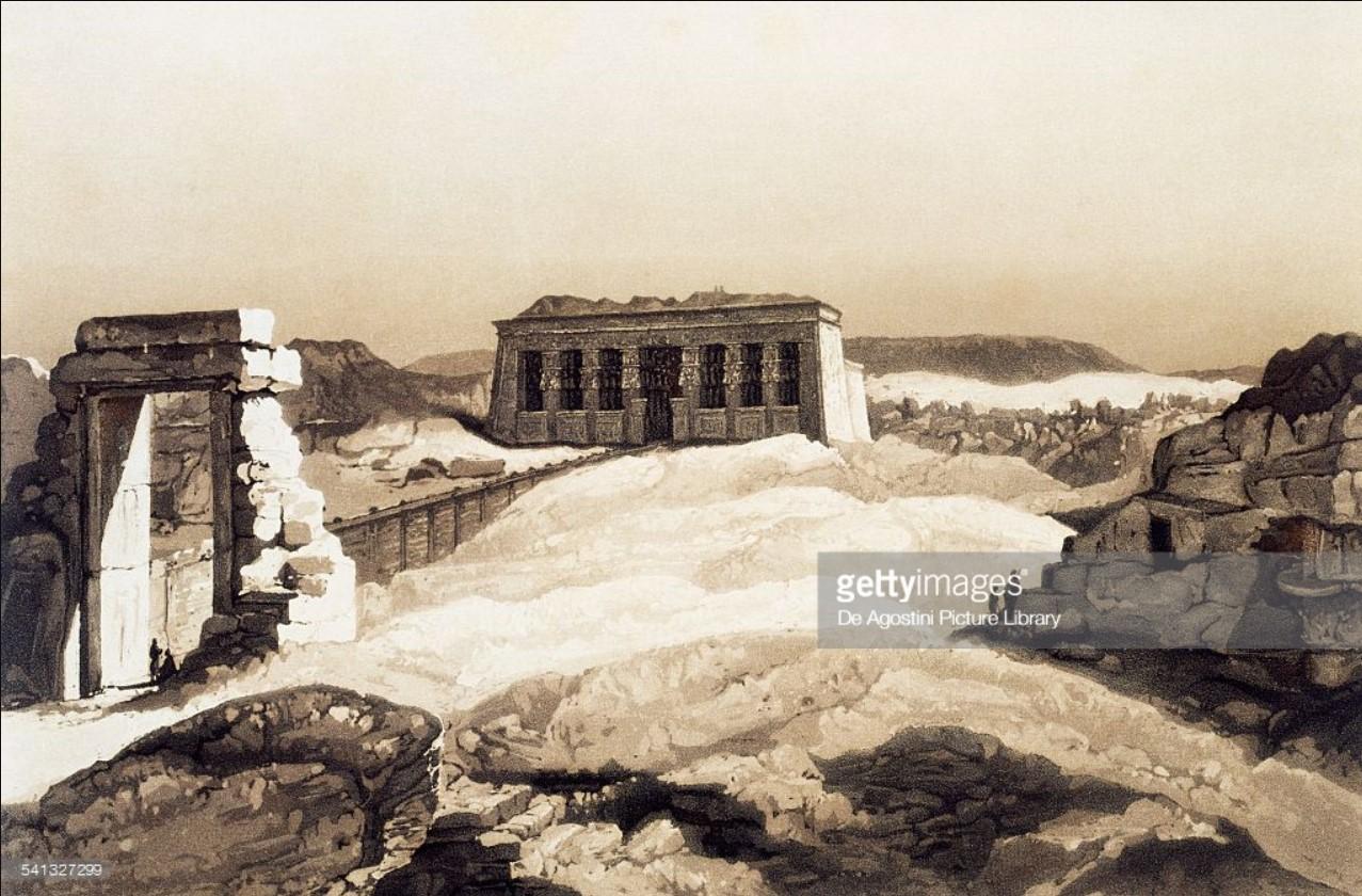 1841. Храм Хатхор в Дендере
