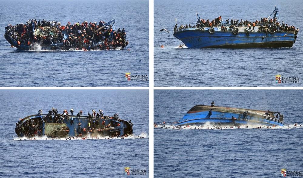 Лодка с мигрантами перевернулась в Средиземном море