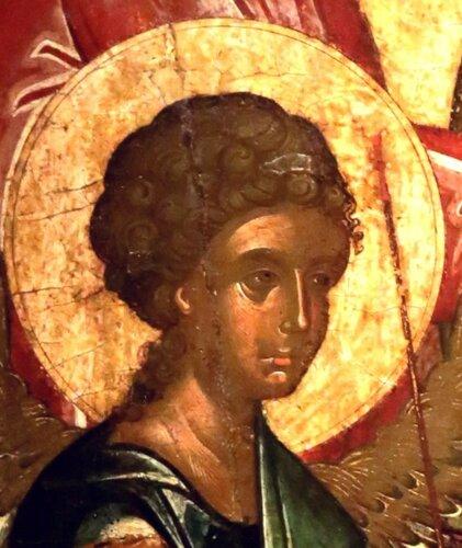 Святая Троица (Гостеприимство Авраама). Икона. Крит, вторая половина XV века. Византийский музей в Афинах.