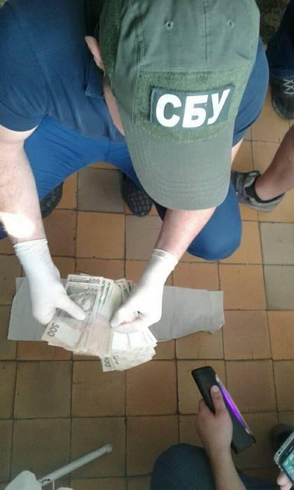 Один из руководителей Добропольской городской больницы задержан при получении 50 тыс. грн взятки, - СБУ. ФОТО