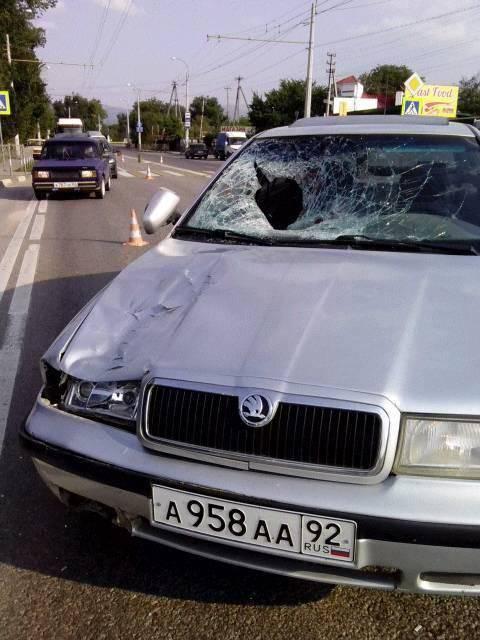 Кровавое ДТП в оккупированном Крыму: российский военный насмерть сбил мужчину. 18+. ФОТОрепортаж