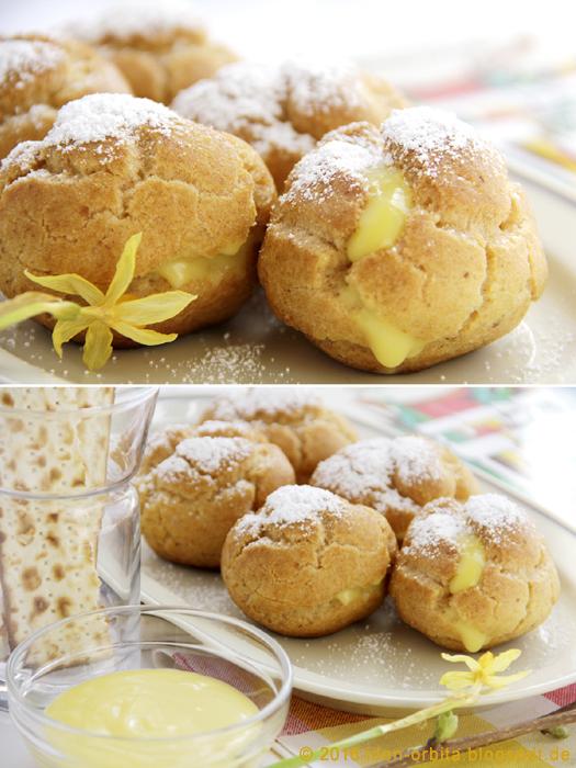 Заварные пирожные с кокосовым кремом