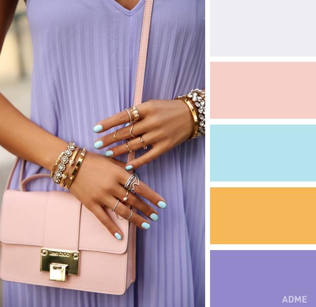 Розовый ияркий синий